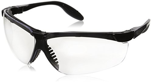 Honeywell S3700X Genesis Uvextreme Eyewear, Anti-Fog Coating, Pewter and Black Frame, Clear Lens (Pack of 10)