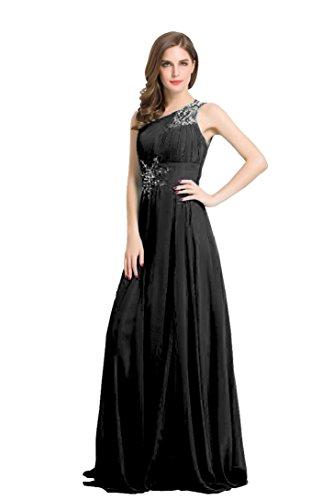 One De Beauty Noche Lentejuelas Seguridad Anclaje Negro Para Vestidos Chifón Hombro emily Mujer En Vestir El Diseño ptqBWn57rq