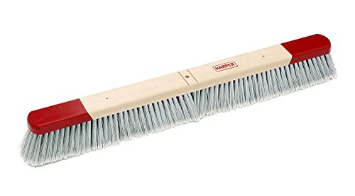 Harper Brush 353012 Broom Head, Polystyrene Fiber, All Purpose, Semi Rough Surface, Maple, 30'' (Pack of 12) by Harper Brush