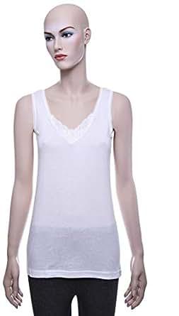 Mariposa Mlvblc 656 Big Lace Tank Top For Women - XXL, Off-White