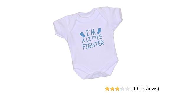 a6ca93f7d Amazon.com : 1 I'm a Little Fighter Premature Baby Clothes Bodysuit Vest 3-7lb  BLUE P2 : Baby