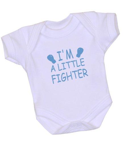 1 I'm a Little Fighter Premature Baby Clothes Bodysuit Vest 3-7lb BLUE P2