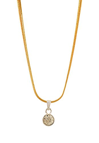 Handicraft Kottage Girl's Silver Gold Plated Pendant (HK-SP-1066) by Handicraft Kottage
