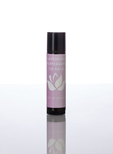 Lip Therapy-Peppermint-Lavender, 100% Natural, Aromatherapy Lip Balm. Softens lips, nourishes and moisurizes dry, chapped lips. (Lip Peppermint Therapy)