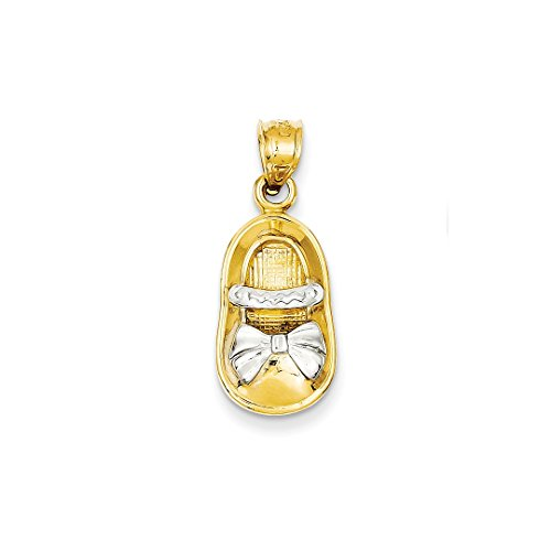 ICE CARATS 14kt Yellow Gold Girl Shoe Pendant Charm Necklace Baby Fine Jewelry Ideal Gifts For Women Gift Set From Heart 14kt Gold Baby Shoe Jewelry