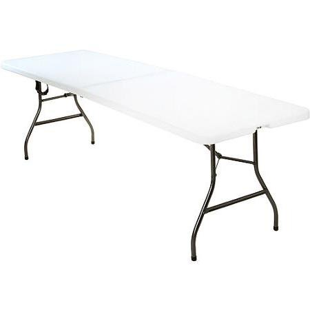 Folding Picnic Table for Events Birthday Parties or Additional Dining Space Indoor Outdoor 8 Foot Review