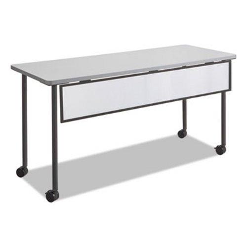 Safco - Impromptu Modesty Panel, Polycarbonate/Steel, 54w x 1d x 9h, Black 2076BL (DMi EA by Safco (Image #1)