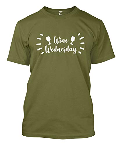 Wine Wednesday - Funny Wino Drinker Men's T-Shirt (Olive, X-Large)
