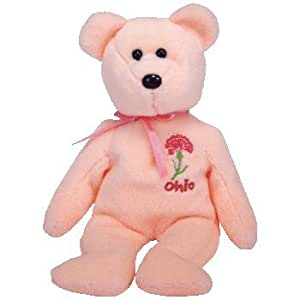 Amazon Com Ty Ohio Scarlet Carnation The Bear Beanie Baby