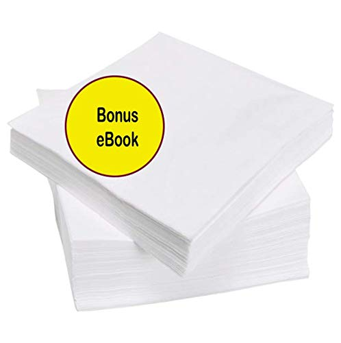 (Cocktail Beverage White Paper Napkins: (1ply, White, 500ct))
