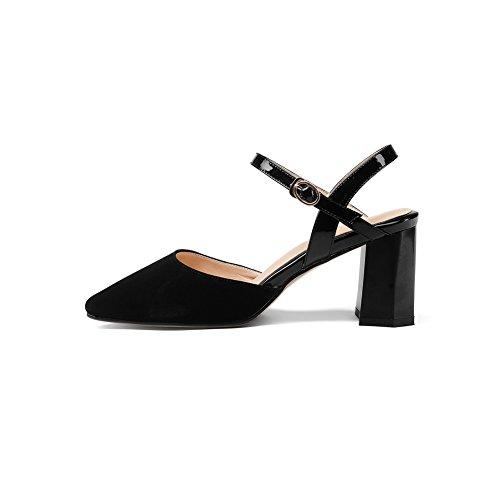 BalaMasa Womens Non-Marking Mini-Size Cold Lining Urethane Sandals ASL05072 Black w0d2r