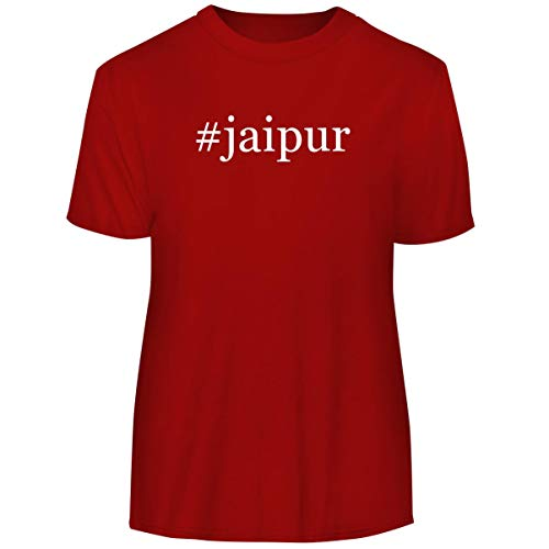 #Jaipur - Hashtag Men's Funny Soft Adult Tee T-Shirt, Red, XX-Large