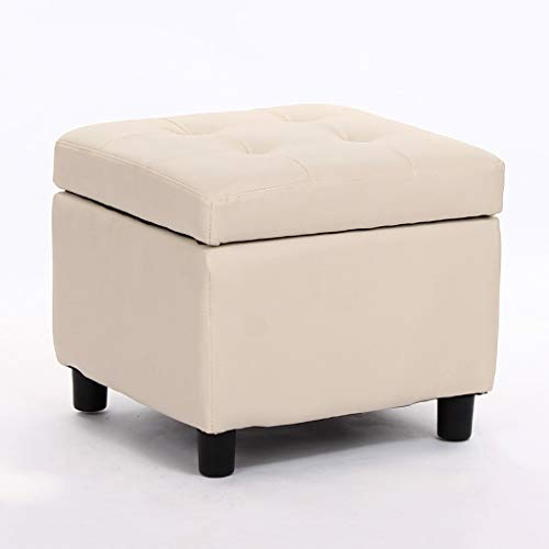 Zcxbhd Folding Highly Elastic Sponge Filling, PU Foot Stool, Foldable Seat Bench (Color : B)