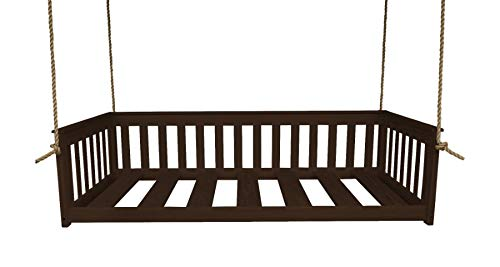 A&L Furniture VersaLoft Amish-Made Pine Twin Mission Swingbed with Rope, Rich Tobacco ()