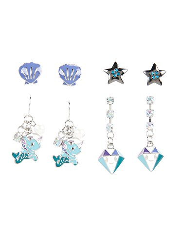 Tokidokii Mermicorno Earrings 4 Pair Set by Tokidoki