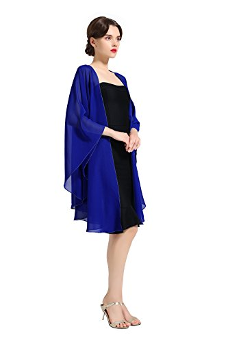 Chiffon Shawl Bridal Wedding Wrap Long Evening Scarves Scarf Royal Blue Butterfly Chiffon Evening Gown