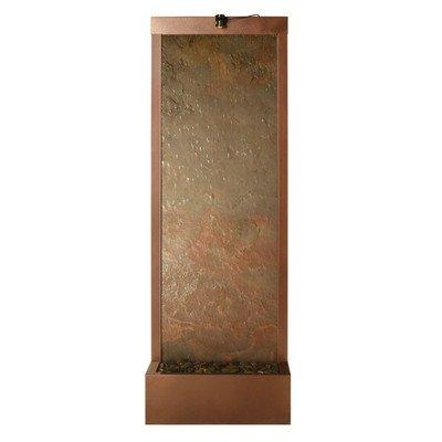BluWorld 90 in. Gardenfall Indoor/Outdoor Floor Fountain - Natural Slate/Coppervein