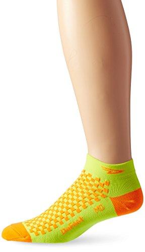 Defeet Speede Socks, Hi-Vis Yellow/Hi-Vis Orange, Small
