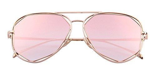 MERRY'S Fashion Women Brand Designer Coating Mirror Lens Summer Sunglasses S8492 (Pink, - Coating Mirror Sunglasses