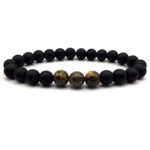 New Mens Beads Bracelets Simple Classic Stone Beaded Charm Bracelets & Bangles for Men Jewelry Gift