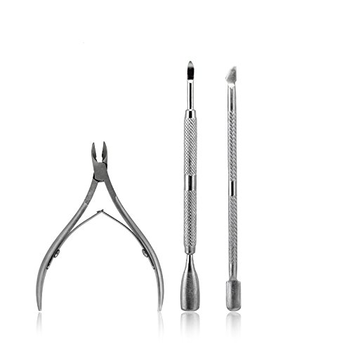 KADS 1pcs/lot Stainless Steel Cuticle Pusher Leftover Skin Remover Manicure Nail Silver Nail Salon cuticle pusher for nail tool