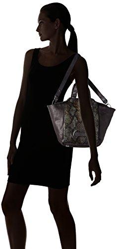 Liebeskind Berlin Baraka Ssnake - Bolso con correa de mano Mujer Schwarz (nairobi black)