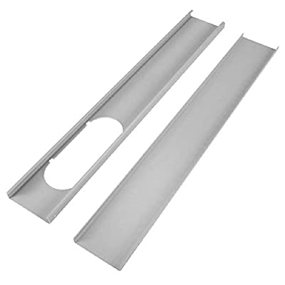 Dyna-Living 2pcs Adjustable Window Slide Kit Plate Air Conditioner Wind Shield for Portable Air Conditioner
