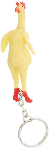 Rubber Chicken Key Chains - 12 per Order by SmallToys