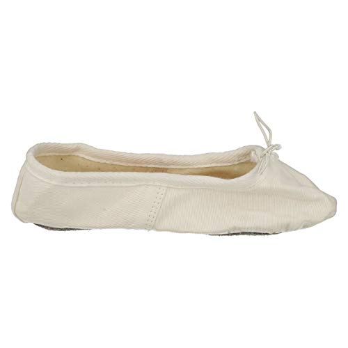 Childrens Canvas White Ballet Shoes Sole Soft Spot On XTwC5aTq