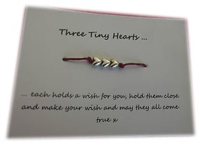 A Bit Krafty Friendship Wish Bracelet, 3 Tiny Hearts, Hen / Party Favour, Choose Colour Choose Colour - Purple CLAIRE-153