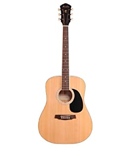 Arcadia DL36BK PAK 36-Inch Parlor Size Acoustic Guitar Pack, Spruce with Black Finish by ARCGB