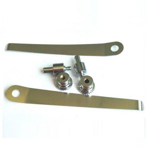 Srate 2 PCS Biological Stereo Microscope Tablet Clip Slide Clip Stage Specimen Presser (8.2cm)