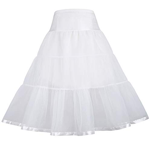 GRACE KARIN Fancy Costumes White Petticoat Tutu for Party 10-11Y ()
