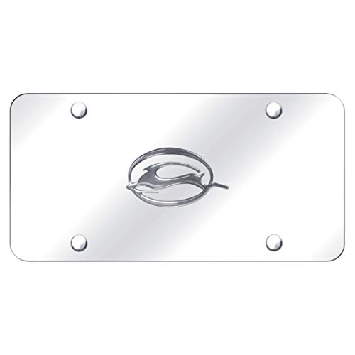 Chevrolet Chevy Impala Front License Plate Frame Logo on Mirror Stainless Steel - Genuine Product