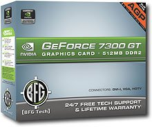 Geforce 7300GT Agp 512MB 2-DVI HDtv Retail -