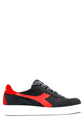 Diadora Uomo, B. Elite Suede Castle Rock Fiery Red, Suede/Pelle, Sneakers, Grigio