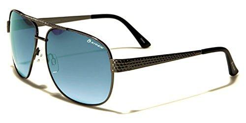 Oxigen - Lunettes de soleil - Homme Multicoloured Taille unique Gunmetal/black/blue gradient lens