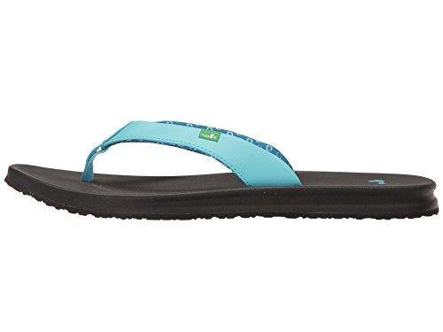Sanuk Dames Yoga Mat Wander Flip-flop Aqua / Zwart