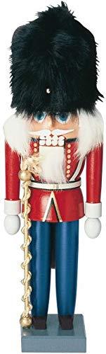 KWO British Drum Major Wood German Christmas Nutcracker Decoration Made Germany - Kwo German Nutcracker