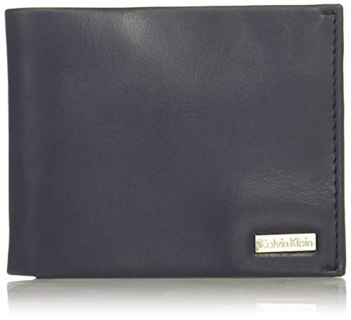 - Calvin Klein Men's Bifold W/Id Window, navy, One Size
