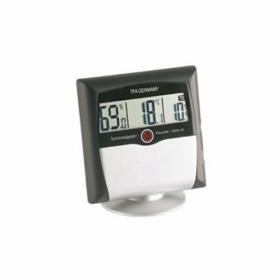 Digital Thermometer Hygrometer With Mould Alarm Comfort Control, Silver 30.5011.54