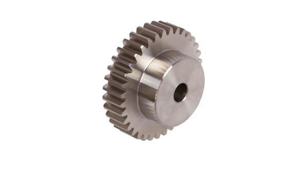 Spur gear made of steel C45 with hub module 8 15 teeth tooth width 65mm outside diameter 136mm