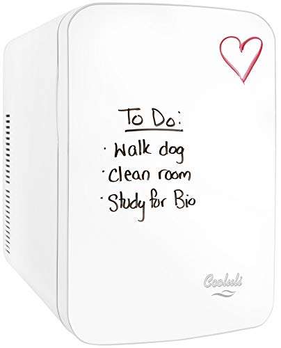 (Cooluli Vibe-15-liter Cooler/Warmer Mini Fridge with Dry-Erase Board for Dorms, Offices, Homes & Cars)