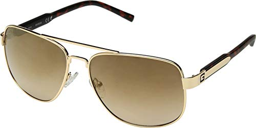 (GUESS Men's GF5045 Gold/Gradient Brown One)