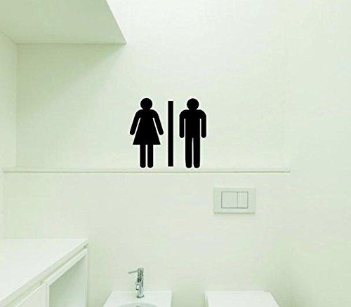 Black Design with Vinyl Moti 1393 2 Bathroom Symbol Door Sign Peel /& Stick Wall Sticker Decal 16 x 16