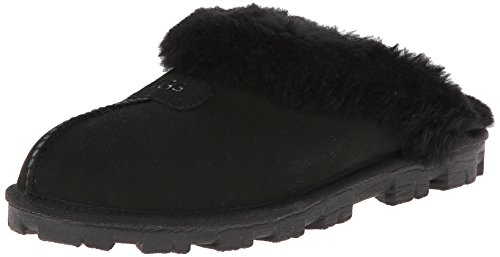 UGG Women's Coquette Slipper, Black, 9 B US (Footwear Ugg Cozy)