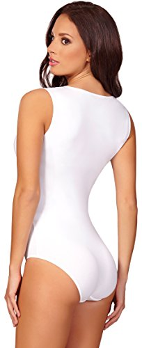 Merry Style Body sin mangas para mujer BD901 Blanco