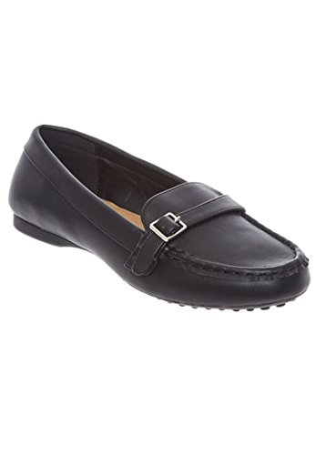 Comfortview Womens Wide Brylee Flats Black 0jTPpp7LW