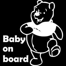 Winnie The Pooh Baby On Board Vinyl