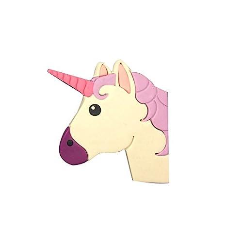 4 inch plástico unicornio cabeza con forma de Fondant Cake Molde Juego de moldes para galletas